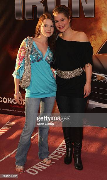 "Actress Cristina do Rego and Jennifer Ulrich attend the premiere for the movie ""Iron Man"" at the Cinemaxx on April 22, 2008 in Berlin, Germany."