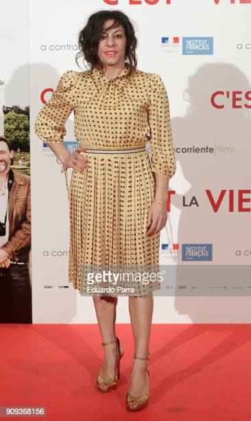 Actress Cristina Medina attends the 'C'Est La Vie' premiere at the Francoise Institut on January 23 2018 in Madrid Spain