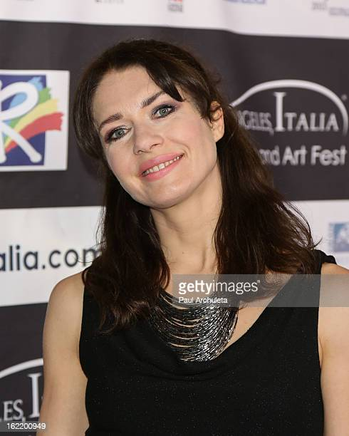 Actress Cristina Parovel attends the 8th Annual Los Angeles Italia Film Fashion and Art Fest at the Mann Chinese 6 on February 19 2013 in Los Angeles...