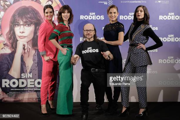 Actress Cristina Pedroche actress Toni Acosta actor and director Santiago Segura actress Maribel Verdu and actress Barbara SantaCruz attend the 'Sin...