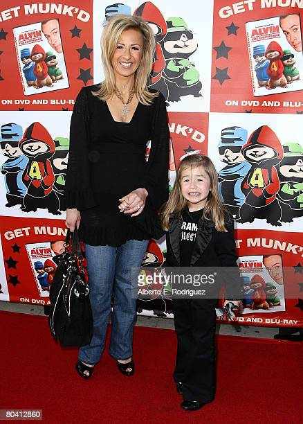 Actress Cristina Perez and daughter Sophia Perez arrive at the DVD release party and charity concert event for 20th Century Fox's Alvin and the...