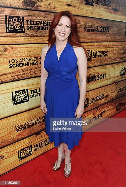 Actress Cristina Pucelli attends a starstudded party hosted by Twentieth Century Fox Television Distribution at the Fox Lot on May 26 2011 in Century...