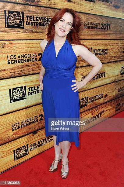 Actress Cristina Pucelli attends a star-studded party hosted by Twentieth Century Fox Television Distribution at the Fox Lot on May 26, 2011 in...