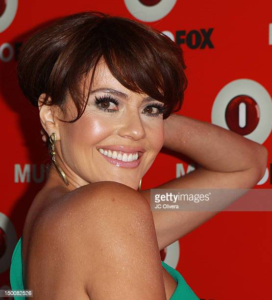 Actress Cristina Umana arrives at MundoFox launch party at Club Nokia L.A. Live on August 9, 2012 in Los Angeles, California.