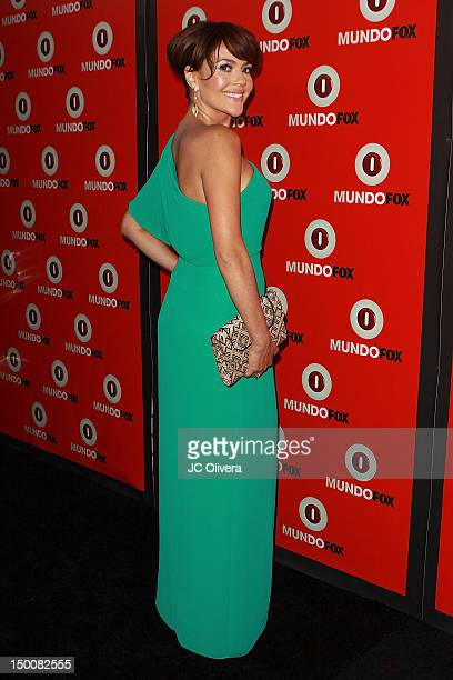 Actress Cristina Umana arrives at MundoFox launch party at Club Nokia LA Live on August 9 2012 in Los Angeles California