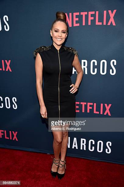 Actress Cristina Umana attends the Season 2 premiere of Netflix's 'Narcos' at ArcLight Cinemas on August 24 2016 in Hollywood California
