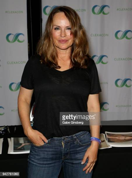 Actress Crystal Chappell attends the ClexaCon 2018 convention at the Tropicana Las Vegas on April 6 2018 in Las Vegas Nevada