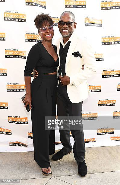 Actress Crystal Fox and actor TC Carson attend Kenny Leon's Celebrity Golf Gala at Millennium Gate Museum on May 21 2016 in Atlanta Georgia