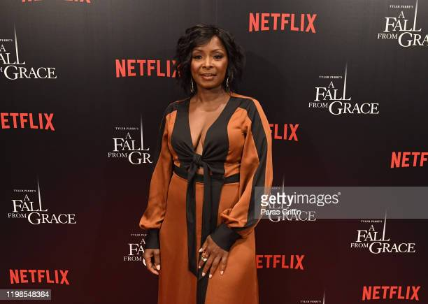 Actress Crystal Fox attends Tyler Perry's A Fall From Grace VIP Screening at SCAD Show on January 09 2020 in Atlanta Georgia
