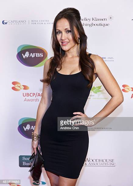 Actress Crystal Lowe arrives at 2013 UBCP/ACTRA Awards on November 24 2013 in Vancouver Canada