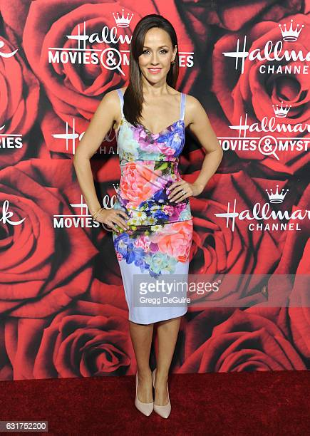 Actress Crystal Lowe arrives at Hallmark Channel And Hallmark Movies And Mysteries Winter 2017 TCA Press Tour at The Tournament House on January 14...