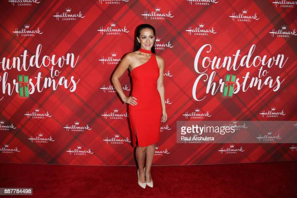 Actress Crystal Lowe attends the Hallmark Channel's Countdown To Christmas Celebration and VIP screening of 'Christmas At Holly Lodge' at The Grove...
