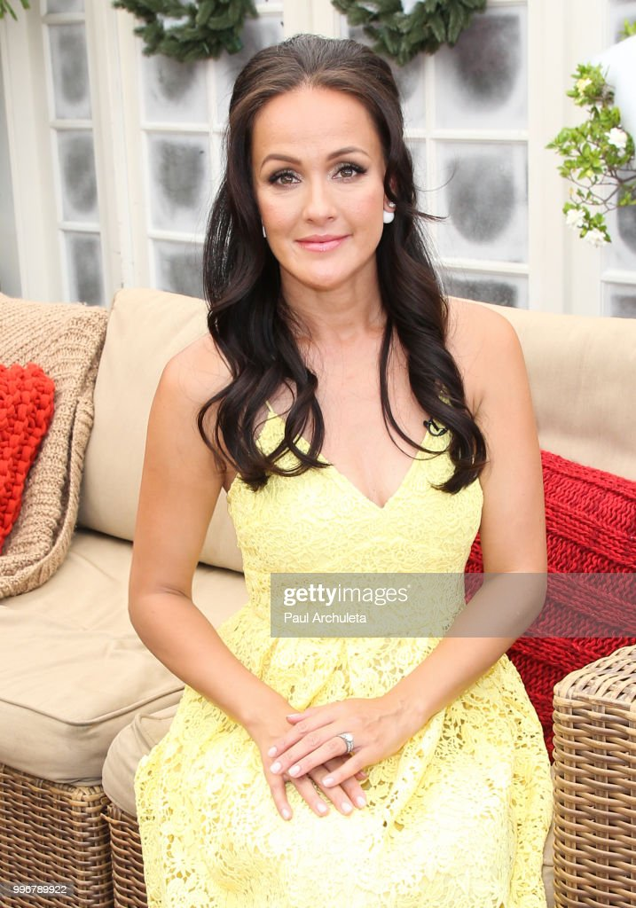 Actress Crystal Lowe visits Hallmark's 'Home & Family' celebrating 'Christmas In July' at Universal Studios Hollywood on July 11, 2018 in Universal City, California.