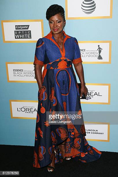 Actress Crystal R Fox arrives at the Essence 9th Annual Black Women event in Hollywood at the Beverly Wilshire Four Seasons Hotel on February 25 2016...