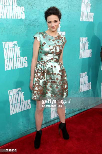 Actress Crystal Reed arrives at the 2012 MTV Movie Awards held at Gibson Amphitheatre on June 3 2012 in Universal City California