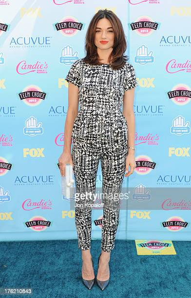 Actress Crystal Reed arrives at the 2013 Teen Choice Awards at Gibson Amphitheatre on August 11 2013 in Universal City California