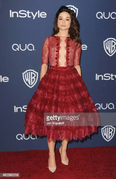 Actress Crystal Reed arrives at the 2014 InStyle And Warner Bros 71st Annual Golden Globe Awards PostParty on January 12 2014 in Beverly Hills...