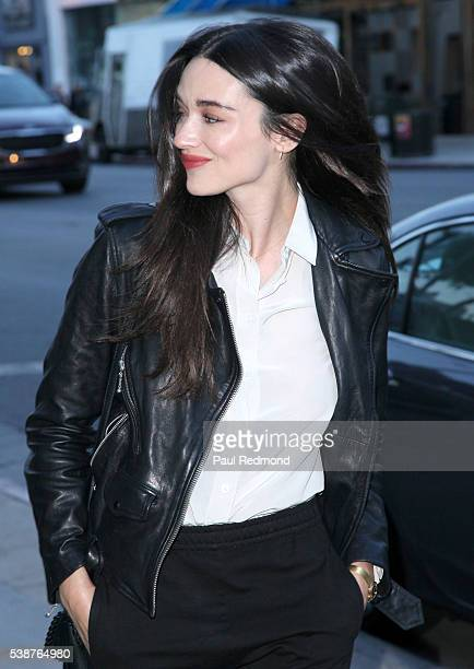 Actress Crystal Reed arrives at the opening night of Australian Theatre Company's 'Ruben Guthrie' at The Matrix Theatre on June 7 2016 in Los Angeles...