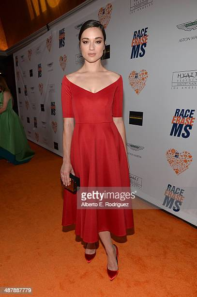 Actress Crystal Reed attends the 21st annual Race to Erase MS at the Hyatt Regency Century Plaza on May 2 2014 in Century City California