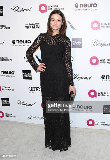 Actress Crystal Reed attends the 23rd Annual Elton John AIDS Foundation's Oscar Viewing Party on February 22 2015 in West Hollywood California
