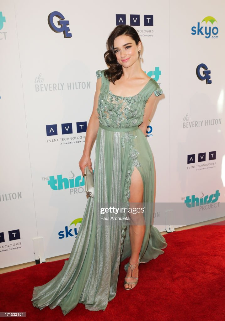 Actress Crystal Reed attends the 4th annual Thirst Gala at The Beverly Hilton Hotel on June 25, 2013 in Beverly Hills, California.