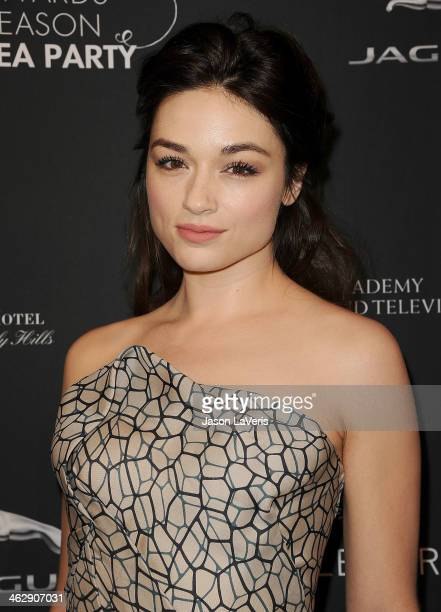 Actress Crystal Reed attends the BAFTA LA 2014 awards season tea party at Four Seasons Hotel Los Angeles at Beverly Hills on January 11 2014 in...