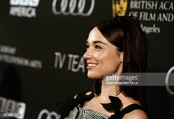 Actress Crystal Reed attends the BAFTA LA TV Tea 2013 presented by BBC America and Audi held at the SLS Hotel on September 21 2013 in Beverly Hills...