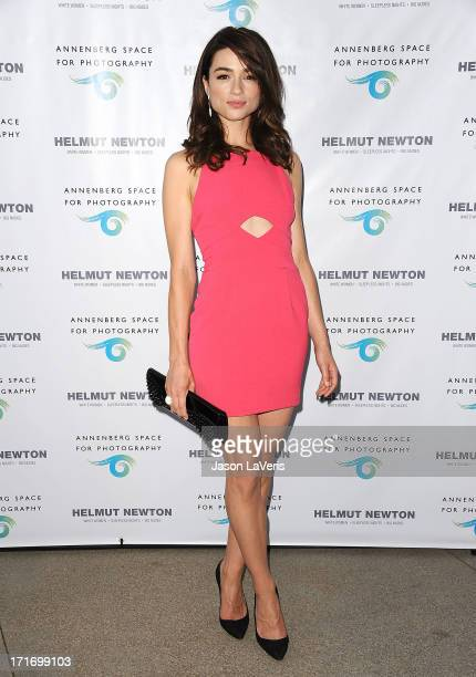 Actress Crystal Reed attends the opening of 'Helmut Newton White Women Sleepless Nights Big Nudes' at Annenberg Space For Photography on June 27 2013...