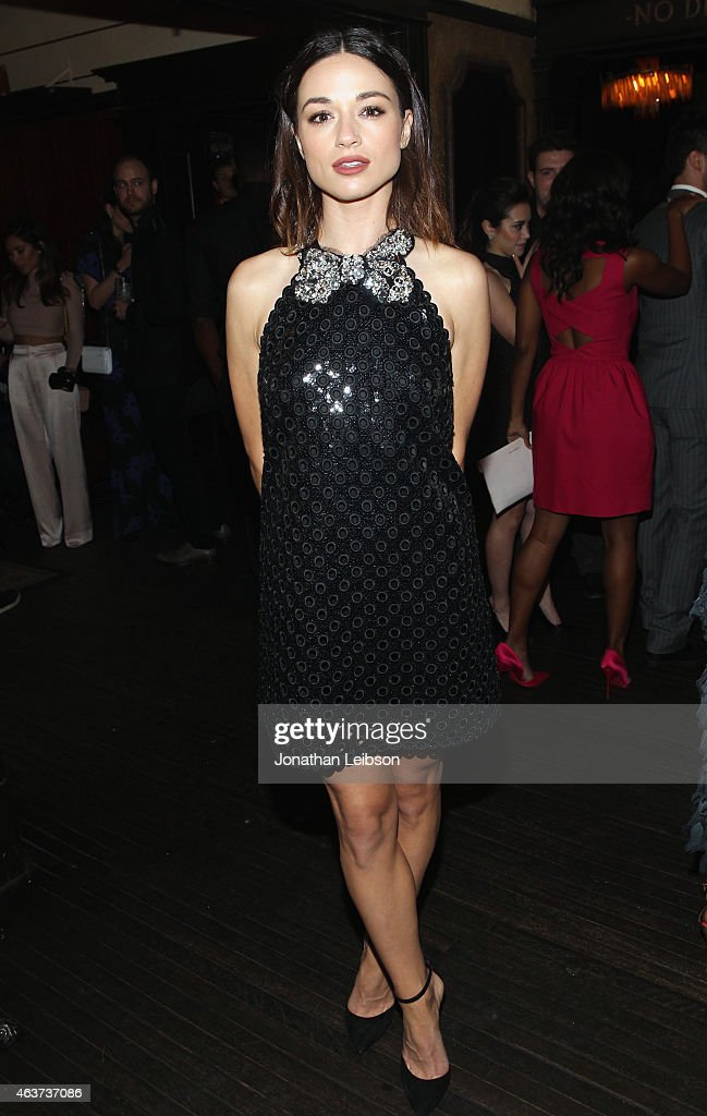 Actress Crystal Reed attends Vanity Fair and FIAT celebration of Young Hollywood, hosted by Krista Smith and James Corden, to benefit the Terrence Higgins Trust at No Vacancy on February 17, 2015 in Los Angeles, California.