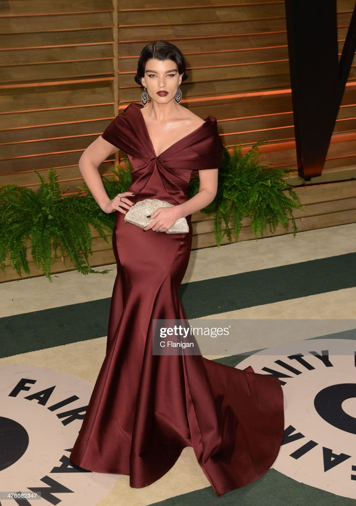 Actress Crystal Renn arrives at the 2014 Vanity Fair Oscar Party Hosted By Graydon Carter on March 2, 2014 in West Hollywood, California.