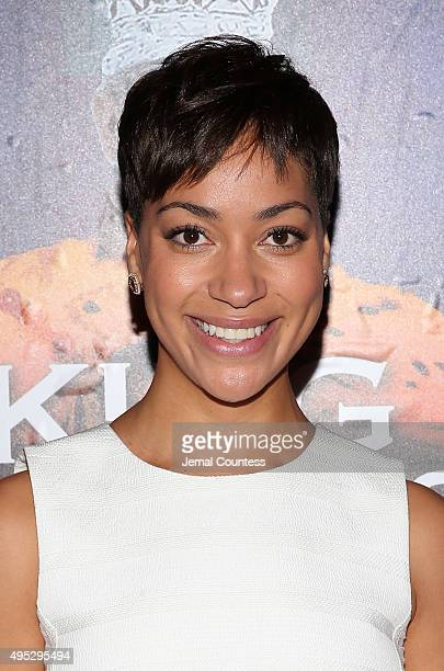 Actress Cush Jumbo attends the Broadway Opening Night of King Charles III at the Music Box Theatre on November 1 2015 in New York City