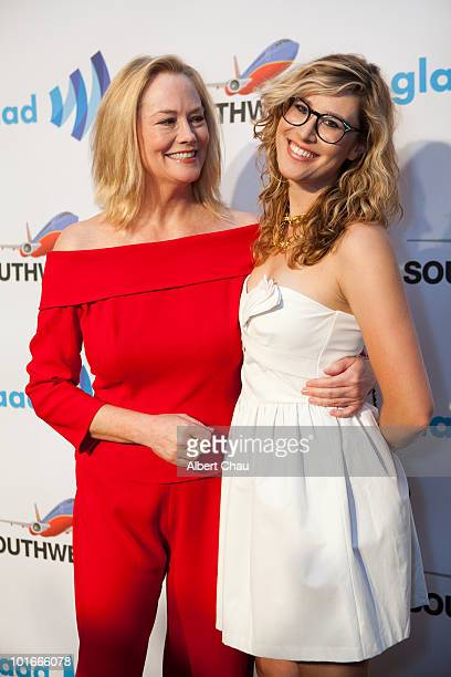 Actress Cybill Shepherd and Ariel ShepherdOppenheim arrive at the 21st Annual GLAAD Media Awards held at Marriot Marquis on June 5 2010 in San...