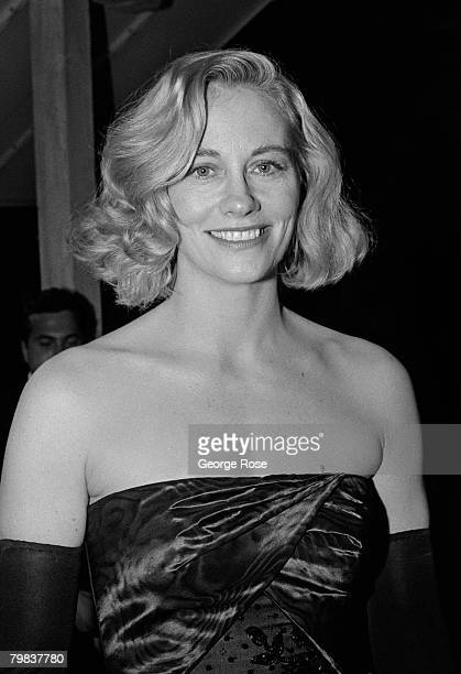 Actress Cybill Shepherd arrives at the 1989 West Hollywood California Irving Swifty Lazar Oscar Party held at Spago