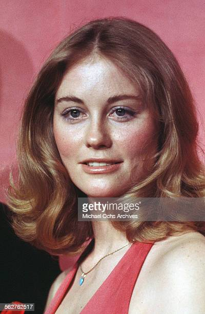 Actress Cybill Shepherd poses backstage after presenting 'Best Supporting Actor' award during the 46th Academy Awards at Dorothy Chandler Pavilion in...