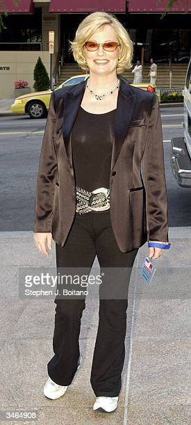 Actress Cybill Shepherd poses before the start of the Planned Parenthood 'Stand Up For Choice' Extravaganza on April 24 2004 in Washington DC The...