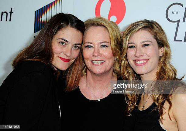 Actress Cybill Shepherd with her daughters Clementine Ford and Ariel Oppenheim attend the launch party for Lifetime's new series The Client List at...