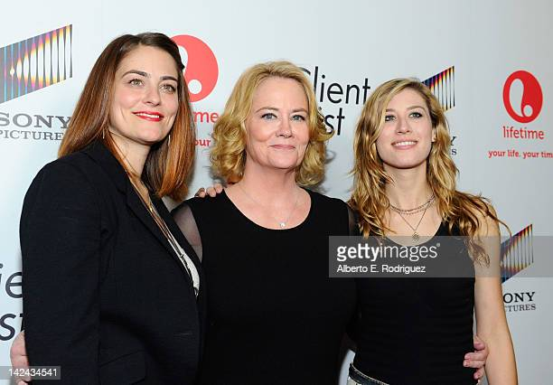 Actress Cybill Shepherd with her daughters Clementine Ford and Ariel Oppenheim attend the red carpet launch party for Lifetime and Sony Pictures' The...
