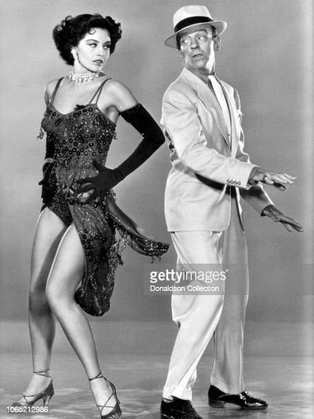 Actress Cyd Charisse and Fred Astaire in a scene from the movie The Band Wagon