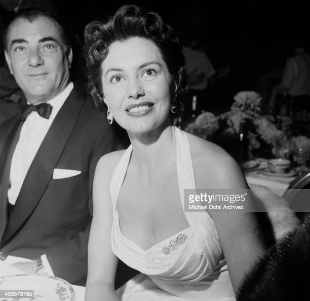 LOS ANGELES CALFORNIA OCTOBER 13 1953 Actress Cyd Charisse at the Cocoanut Grove to listen to her husband Tony Martin in Los Angeles California
