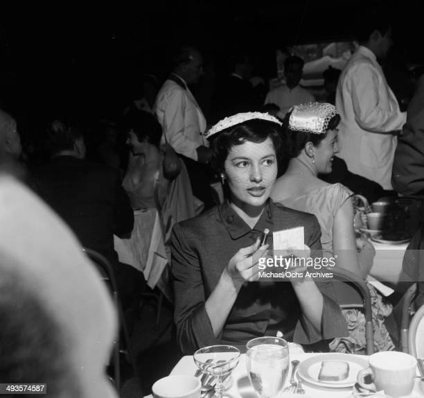 LOS ANGELES CALFORNIA NOVEMBER 24 1954 Actress Cyd Charisse attends a wedding in Los Angeles California