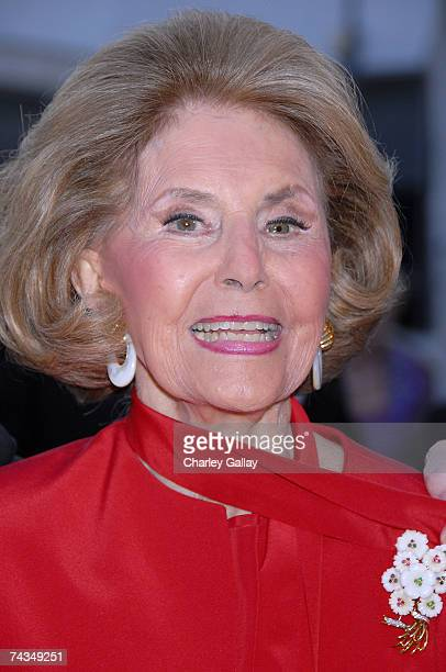 Actress Cyd Charisse attends the City of Beverly Hills gala honoring fashion icon Fred Hayman on May 28 2007 in Los Angeles California