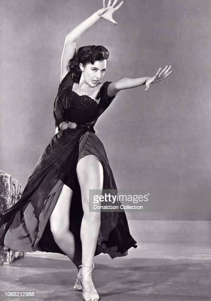 Actress Cyd Charisse in a scene from the movie Sombrero