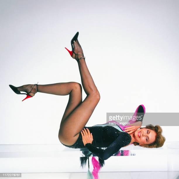 Actress Cyd Charisse poses for a portrait in 1989 in Los Angeles California