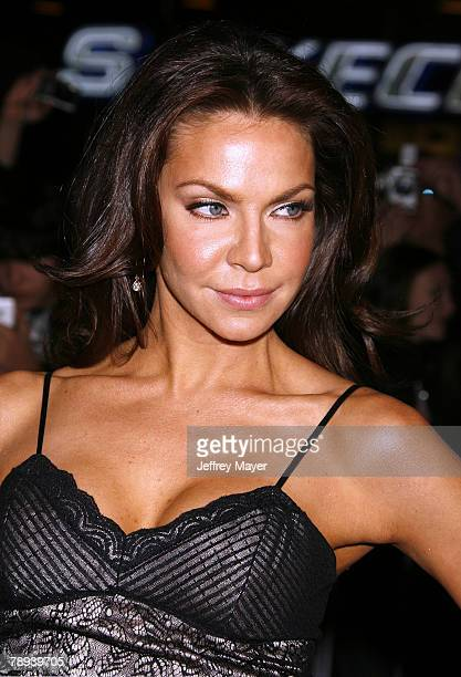 Actress Cyia Batten arrives at the Premiere of Universal Pictures Charlie Wilson's War at CityWalk Cinemas on December 9 2007 in Universal City...