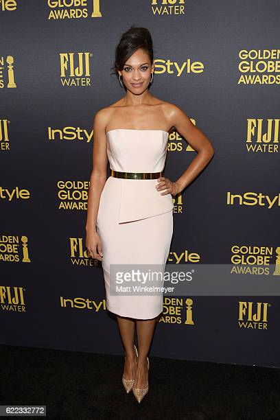 Actress Cynthia AddaiRobinson arrives at the Hollywood Foreign Press Association and InStyle celebrate the 2017 Golden Globe Award Season at Catch LA...