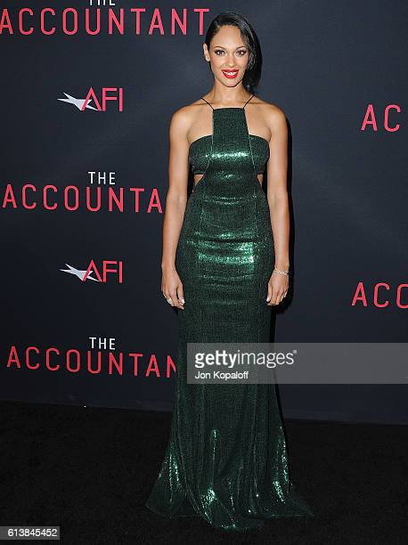 Actress Cynthia AddaiRobinson arrives at the Los Angeles Premiere The Accountant at TCL Chinese Theatre on October 10 2016 in Hollywood California
