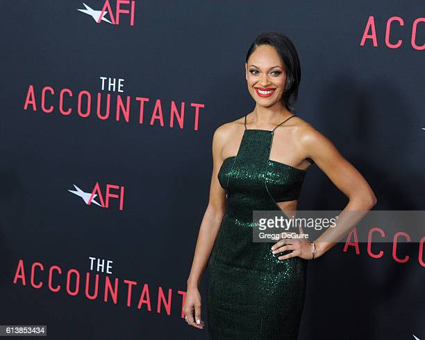 Actress Cynthia AddaiRobinson arrives at the premiere of Warner Bros Pictures' The Accountant at TCL Chinese Theatre on October 10 2016 in Hollywood...