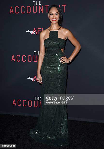 Actress Cynthia AddaiRobinson arrives at the premiere of Warner Bros Pictures' 'The Accountant' at TCL Chinese Theatre on October 10 2016 in...