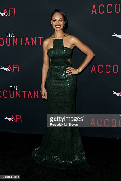 Actress Cynthia AddaiRobinson attends the premiere of Warner Bros Pictures' The Accountant at TCL Chinese Theatre on October 10 2016 in Hollywood...