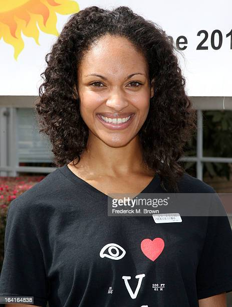 Actress Cynthia AddaiRobinson of the cast of Starz Spartacus War Of The Damned lend support at the 2013 Visual Impact Now Annual Eye Clinic Event on...